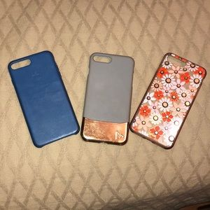 Three I phone 8 plus cases